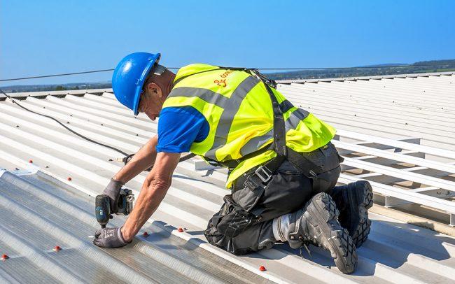 Roof light install